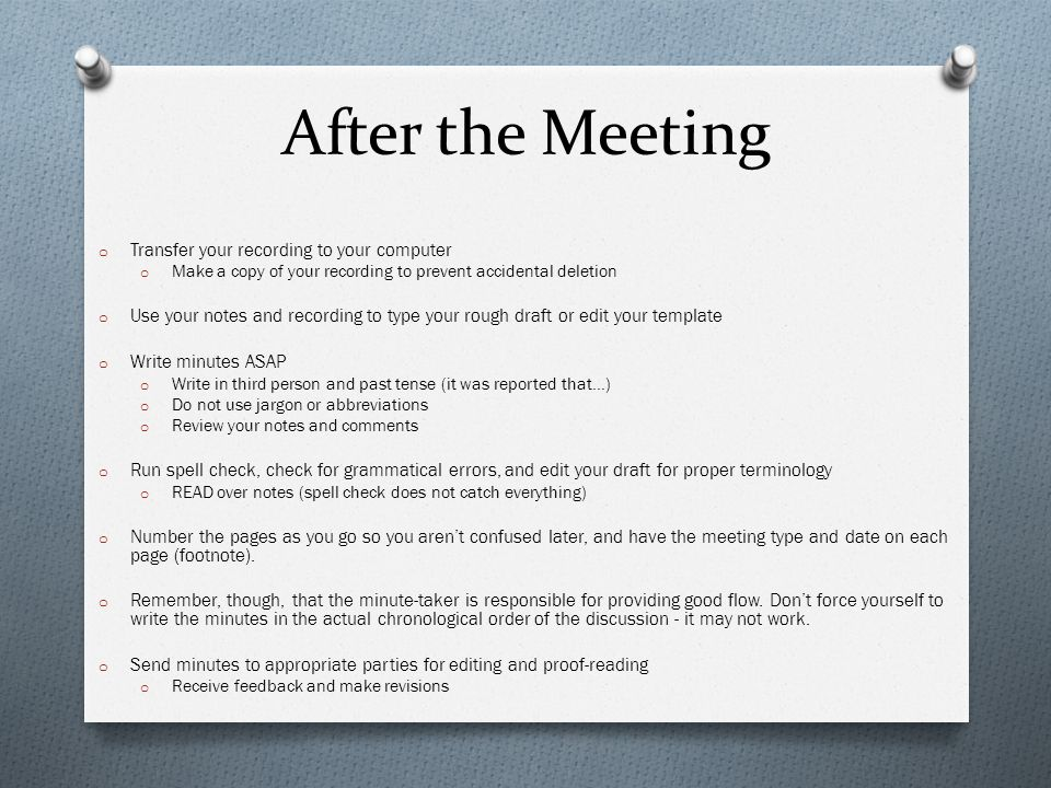 how to write minutes in a meeting - Romeolandinez