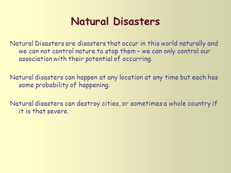 Hazards and Disasters- Risk Assessment and Response - ppt video