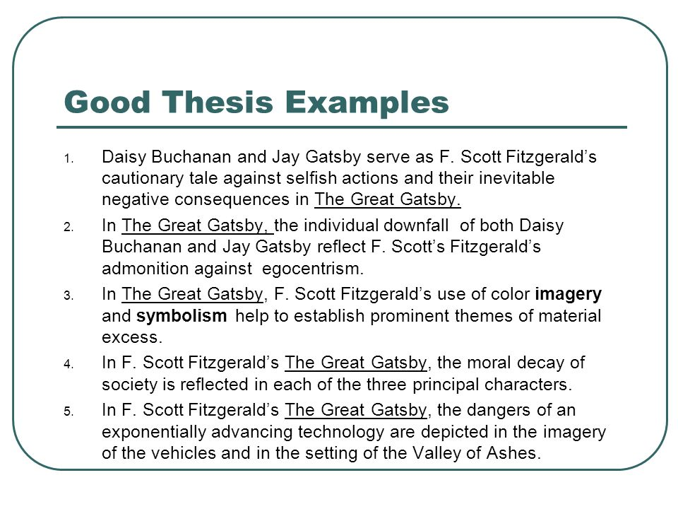 The Great Gatsby Thesis Help \u2012 The Great Gatsby Essay Example