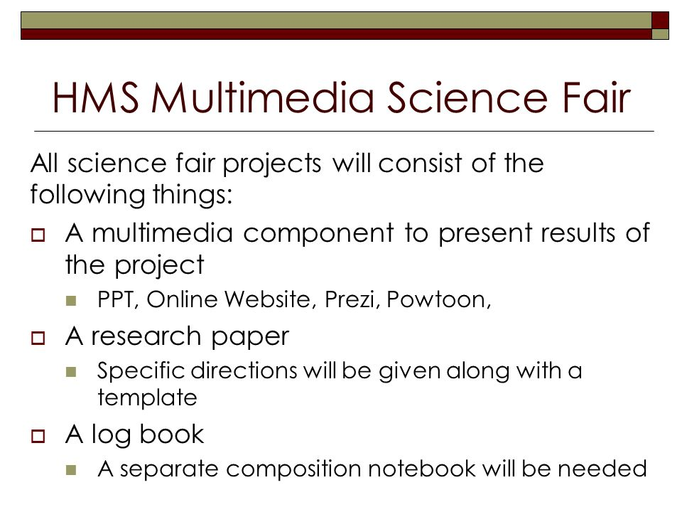 Middle School Science Fair Research Papertemplate for science