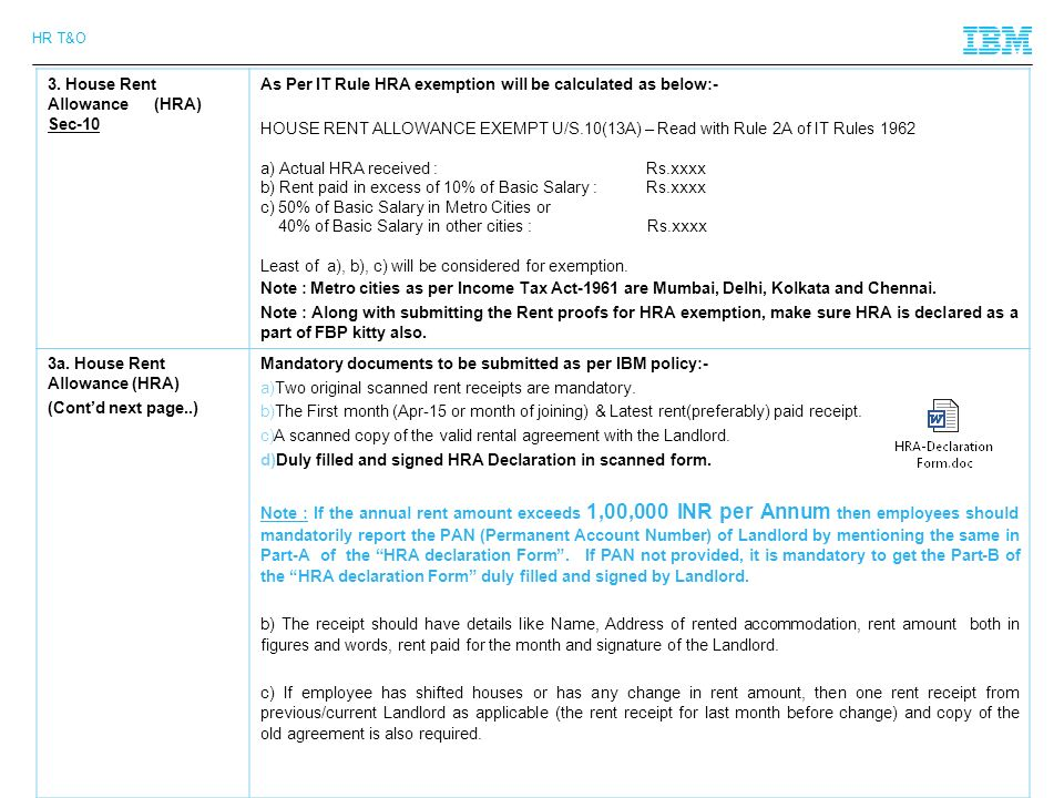 Employee declaration form for income tax