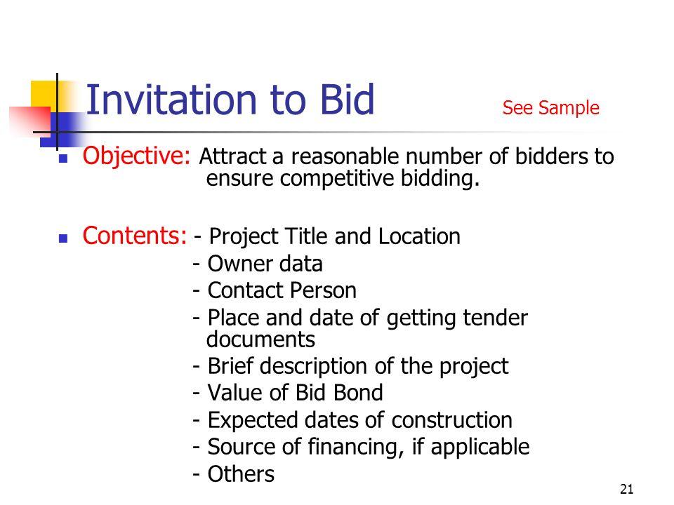 invitation to bid templates xv-gimnazija