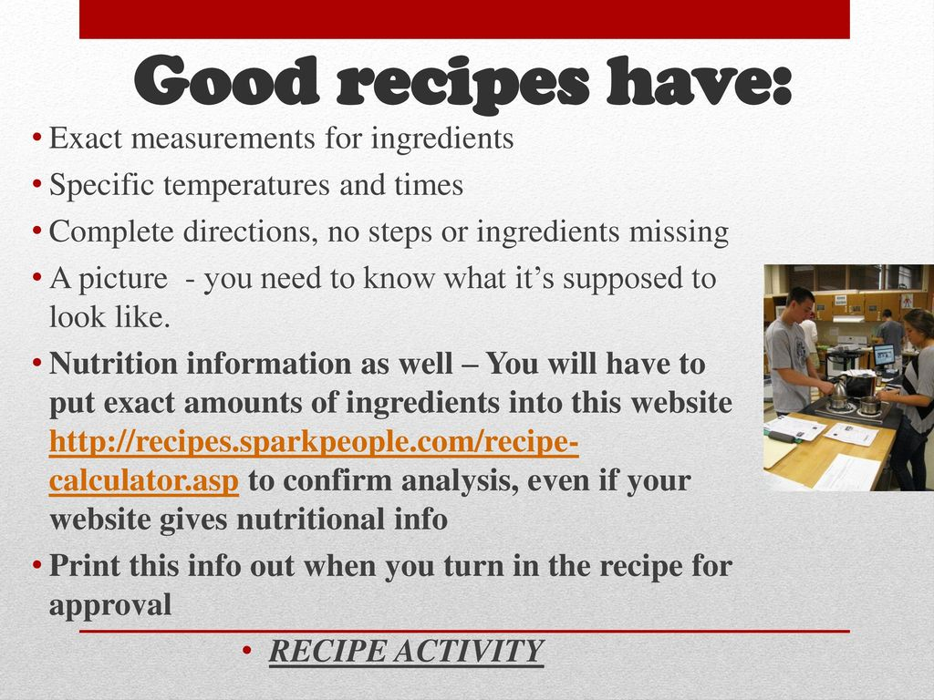 Food Recipe Calorie Calculator Dessert Competition Ppt Download