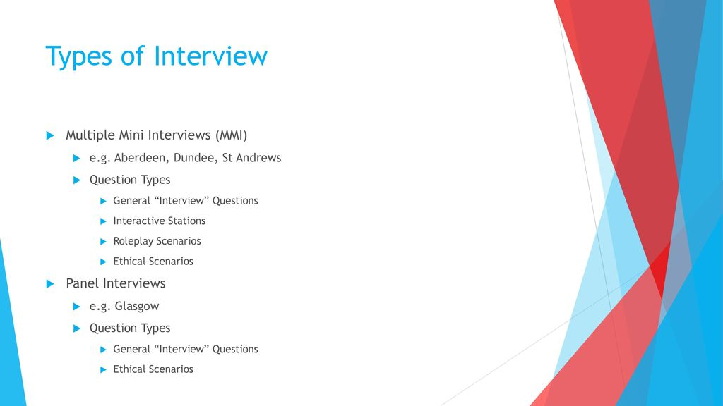 scenarios for interviews - Roho4senses