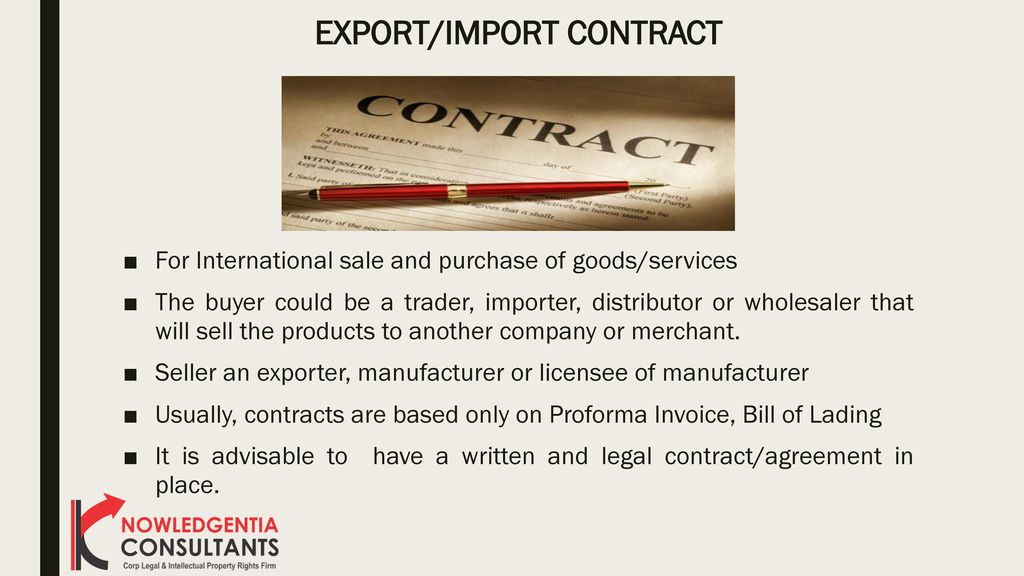 Export Contract madebyrichard