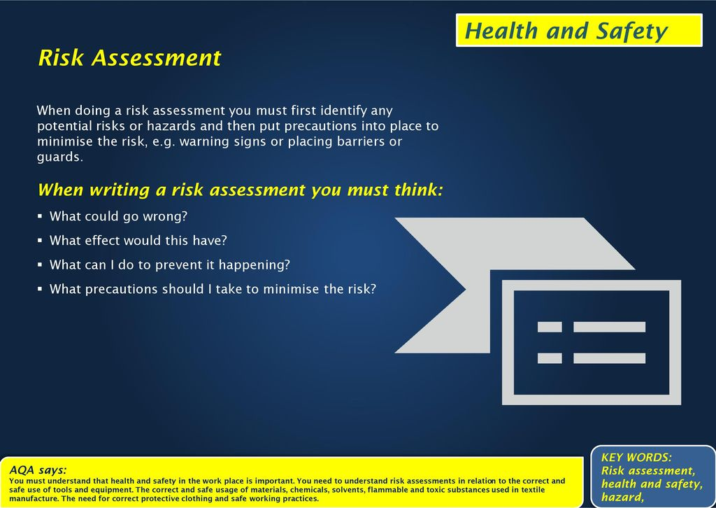 Health and Safety The Legal Side Health and safety of the workforce - health safety risk assessment