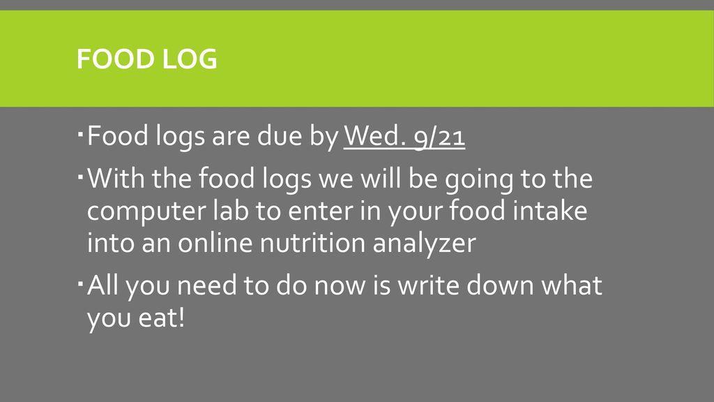 Nutrition - ppt download - online food log