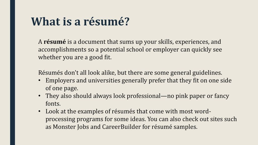 How to write a college application résumé - ppt download - some college on resume