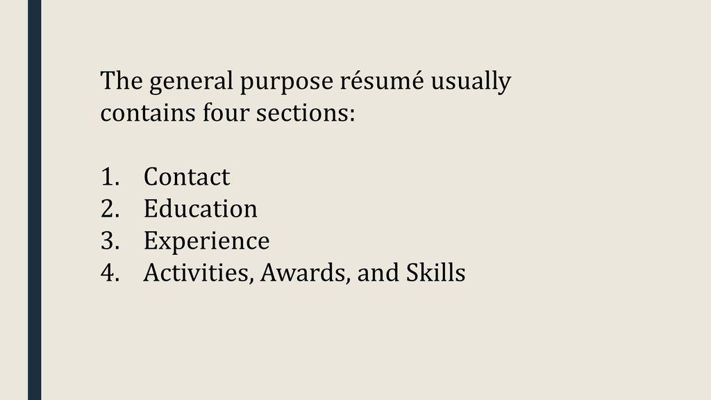 How to write a college application résumé - ppt download