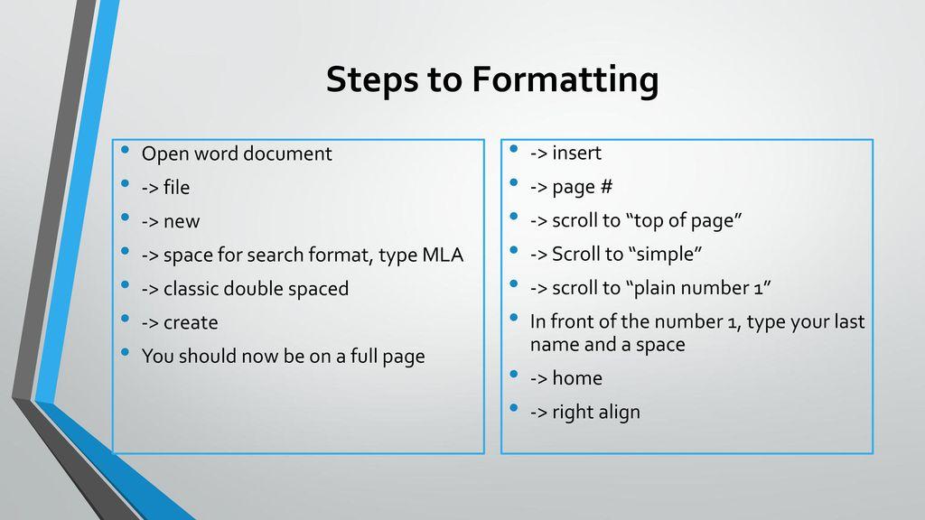 mla format word document - Peopledavidjoel