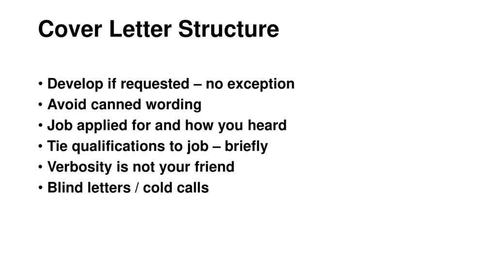 Best Practices \u2013 Resume/CV  Cover Letters - ppt download