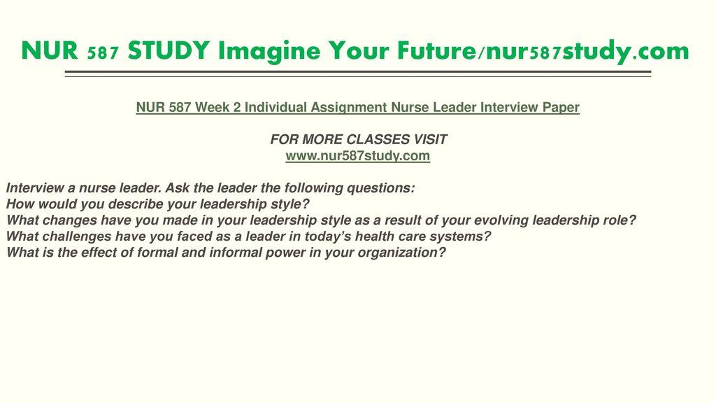 NUR 587 STUDY Imagine Your Future /nur587study - ppt download