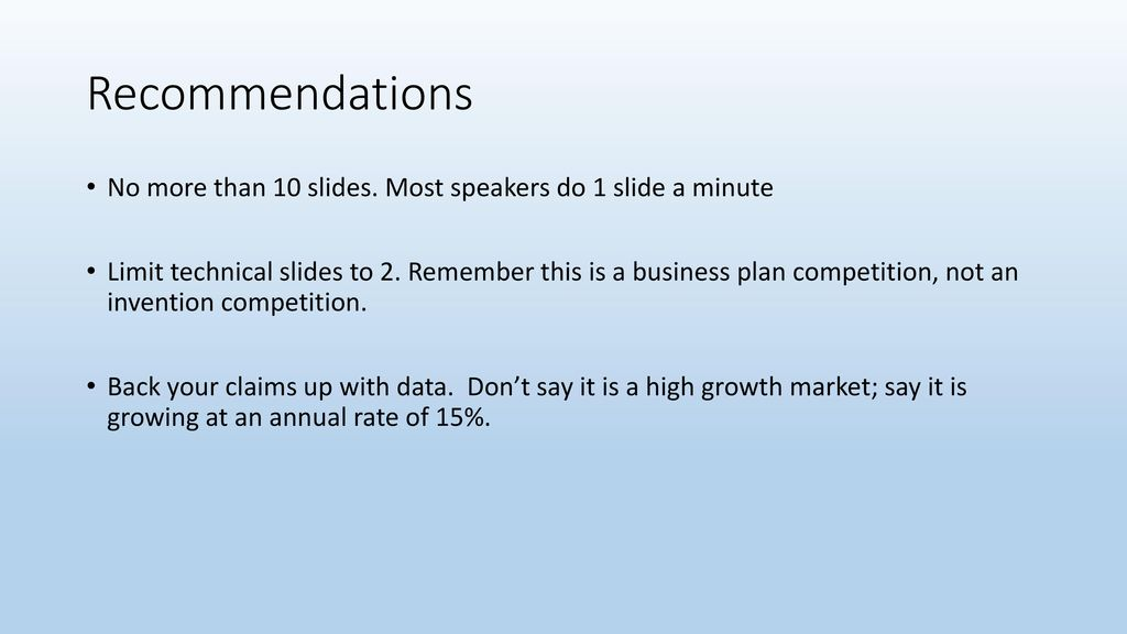 Presentation 10 minutes followed by 5 minutes of Q and A - ppt download - 5 minute business plan