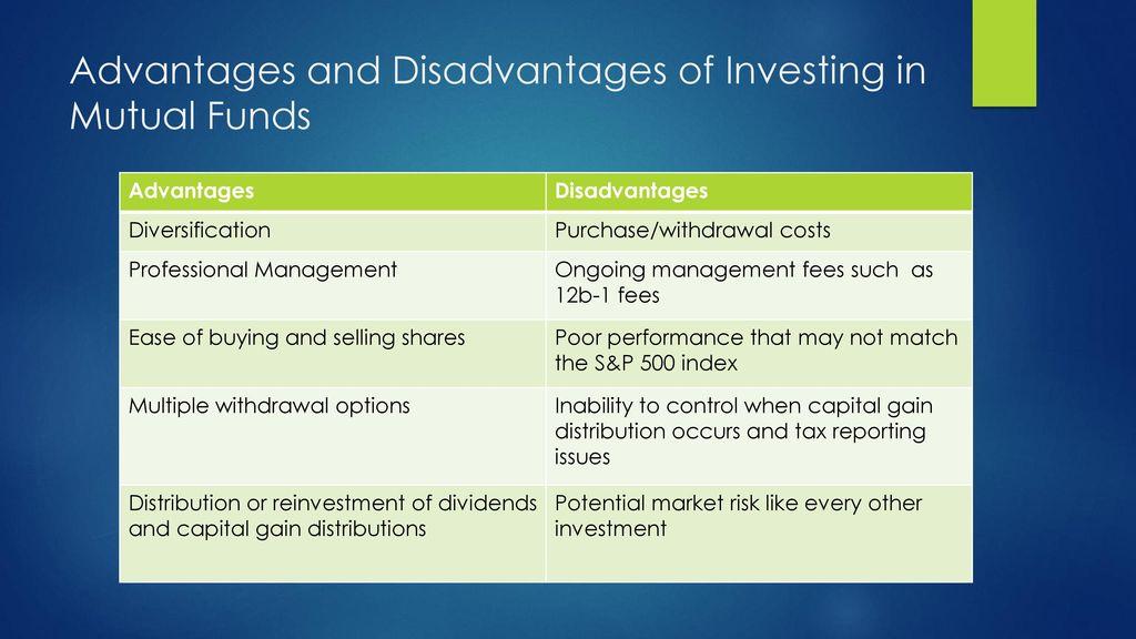 Mutual Funds Advantages And Disadvantages up close! uitfs vs mutual