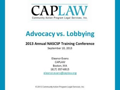 Advocacy and Lobbying: The Rules of the Road for Nonprofits U.S. Breastfeeding Committee July 16 ...