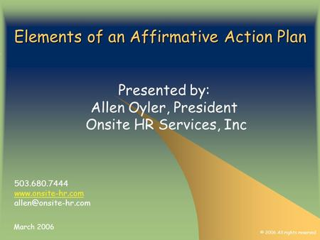 How to Write an Affirmative Action Plan - ppt video online download