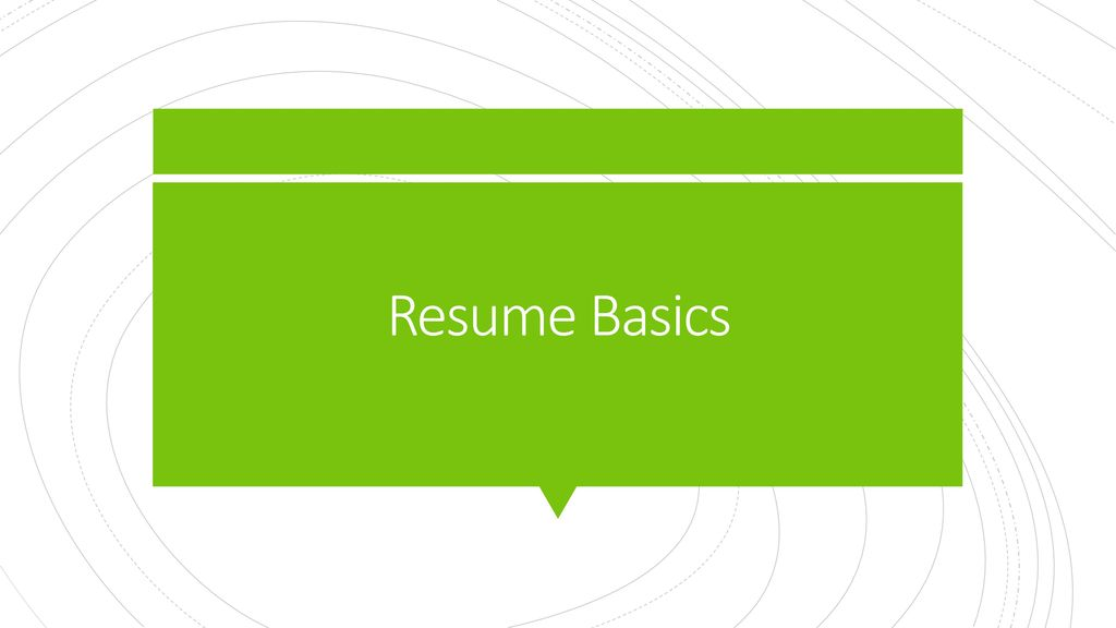 Resume Basics - ppt download