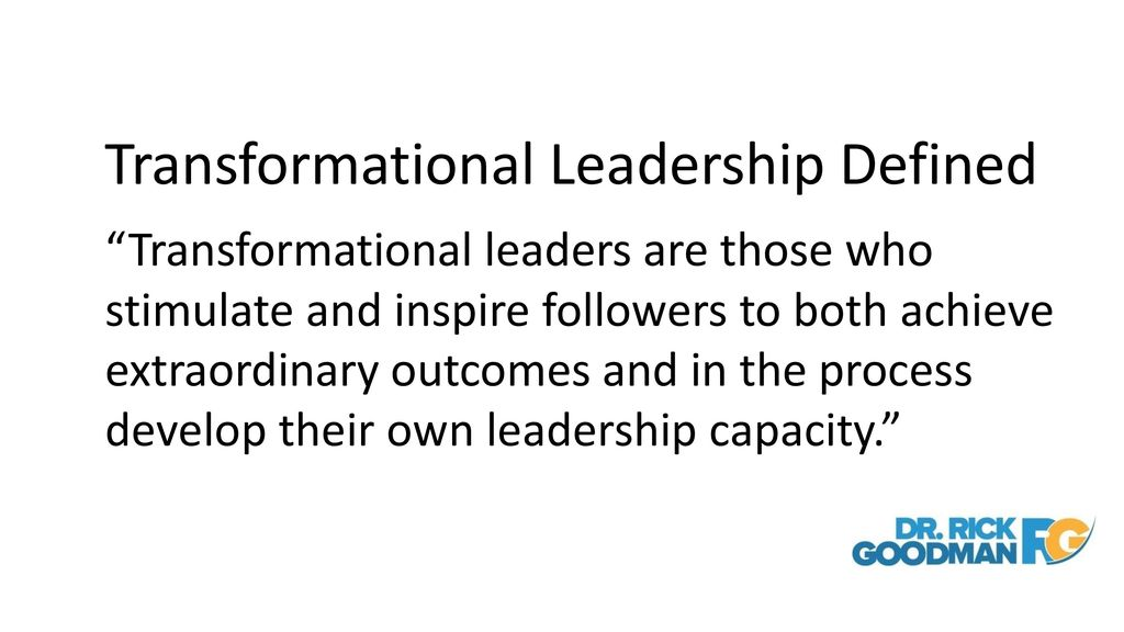 Creating Your Vision for the Future - ppt download - transformational leadership definition