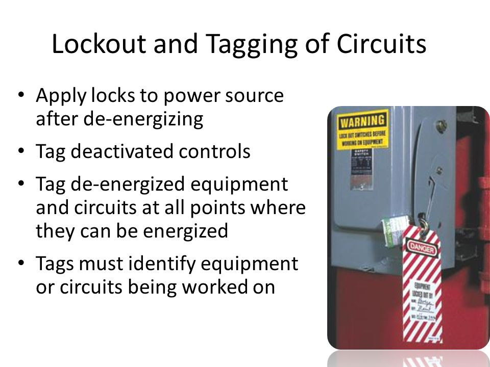tags must identify equipment or circuits being worked on