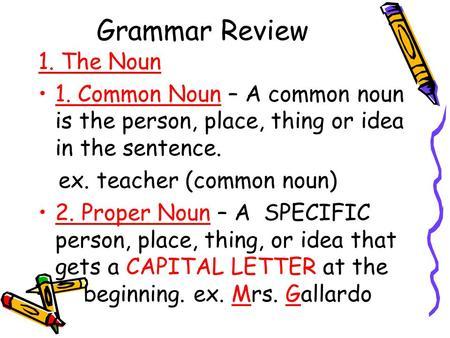 Grammar Boot Camp Nouns Noun A Noun Is A Person Place
