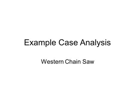 An Approach to Case Analysis - ppt video online download