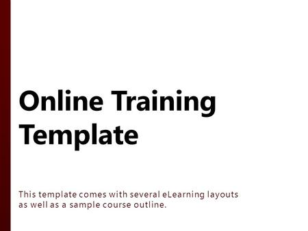 Instructor-led Template - ppt download - training outline template