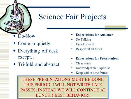 How to write a purpose for a science fair project