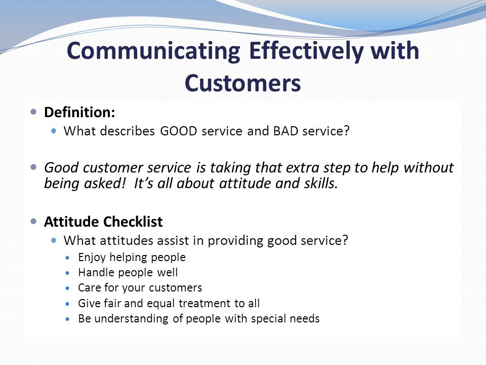 describe good customer service skills - Roho4senses