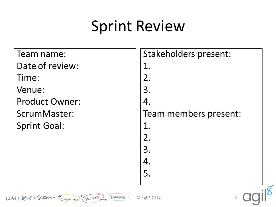 Sprint Review Results Example Template - ppt video online download - product review template