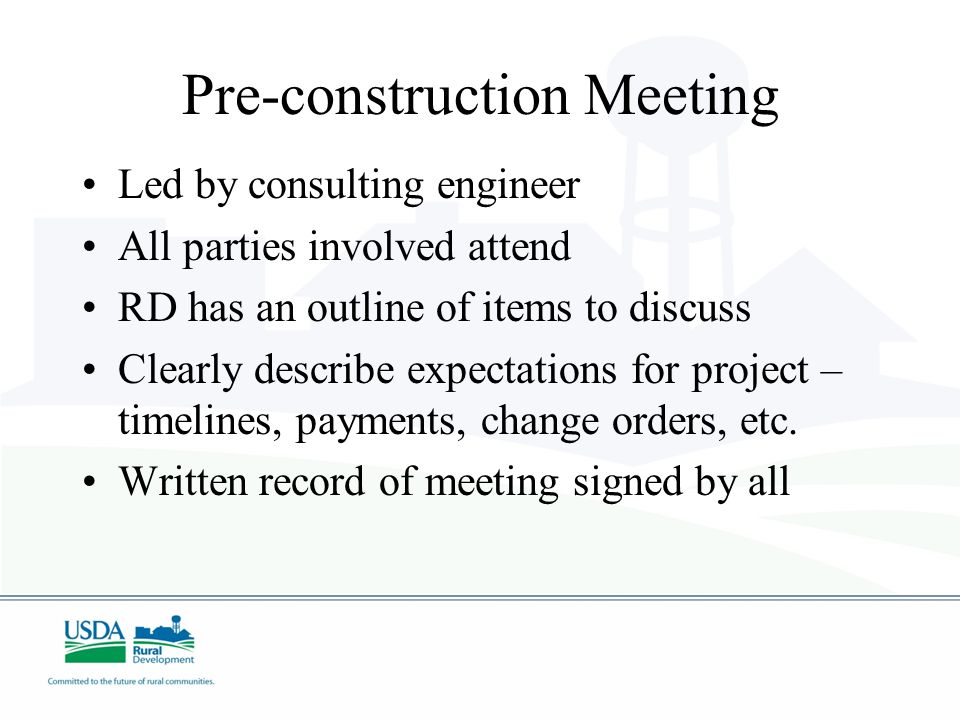 Manage Expectations With Pre Construction Meetings - Image to u