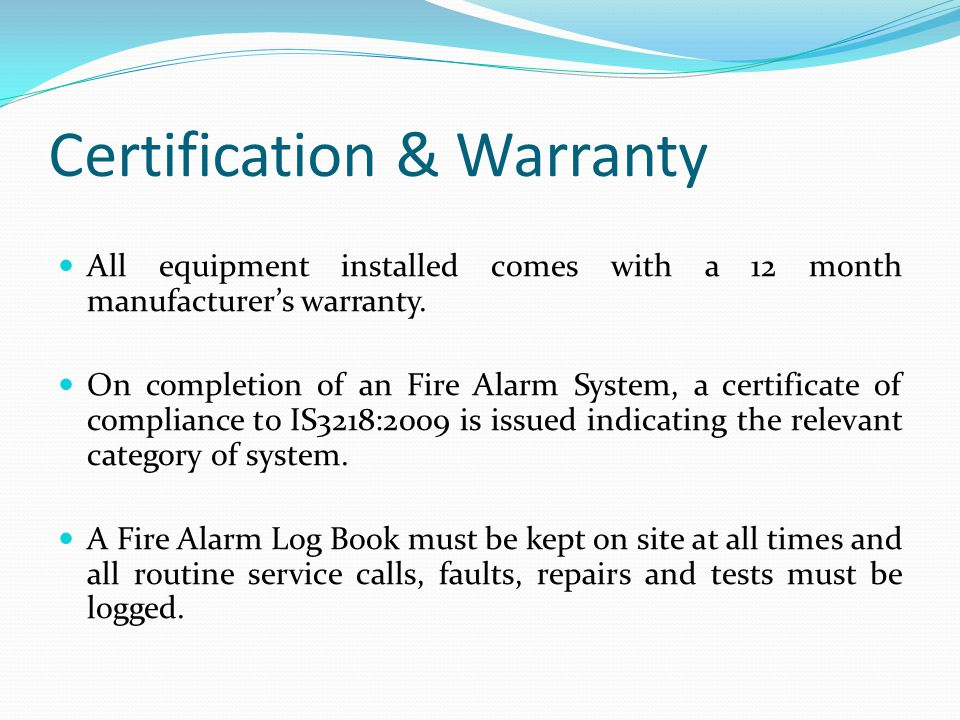 Fire alarm log book template costumepartyrun fire alarm certificate of completion template gallery saveenlarge yelopaper Gallery