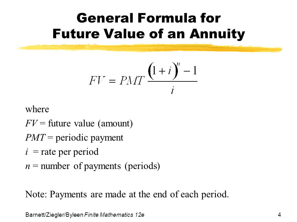 Chapter 3 Mathematics of Finance - ppt video online download - annuity equation