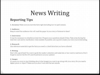News Writing Tell me a story!. - ppt video online download