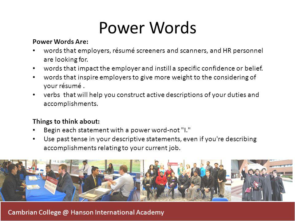 resume power words | resume-template.paasprovider.com