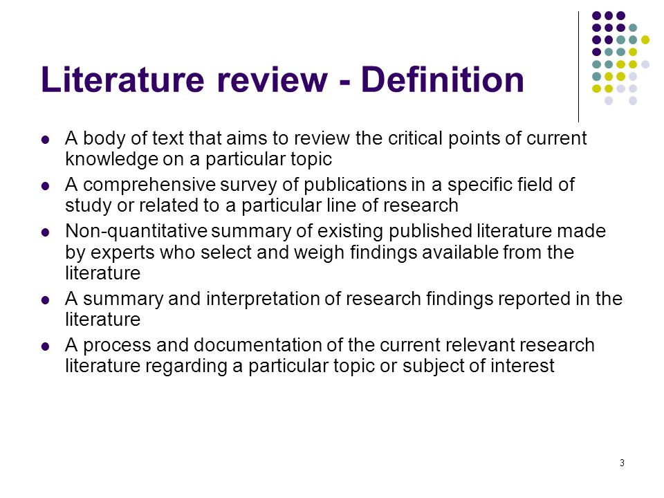 Training agenda Literature review u2013 What and why - ppt video - literature review