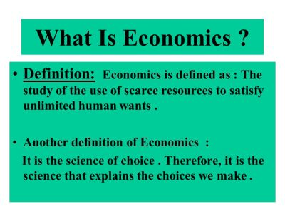 CHAPTER ONE The Economic Problem. - ppt download