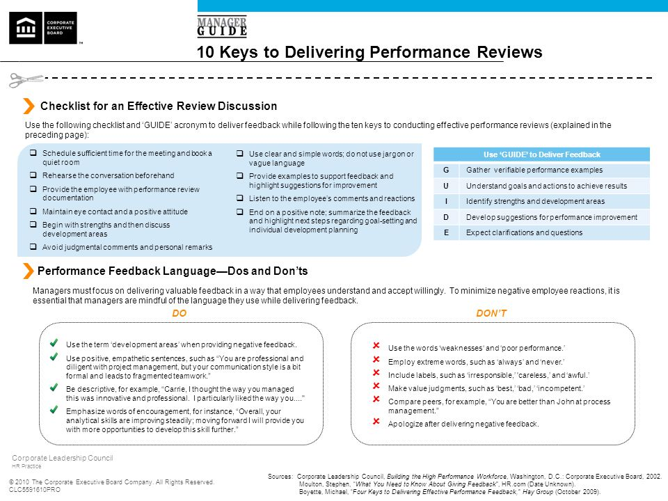 10 Keys to Delivering Performance Reviews - ppt download