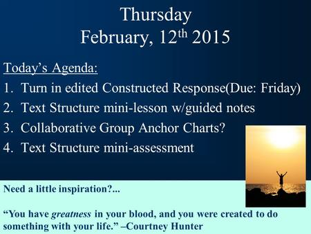 Understanding Text Structures - ppt download