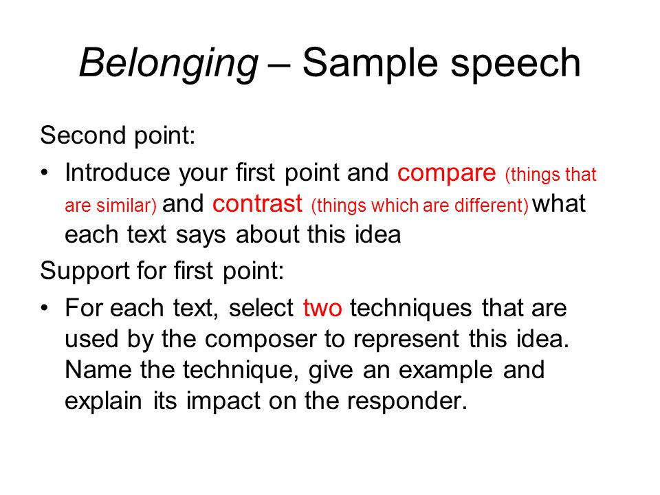Elegant Belonging Speech Sample   Ppt Video Online Download   Speech Sample Images