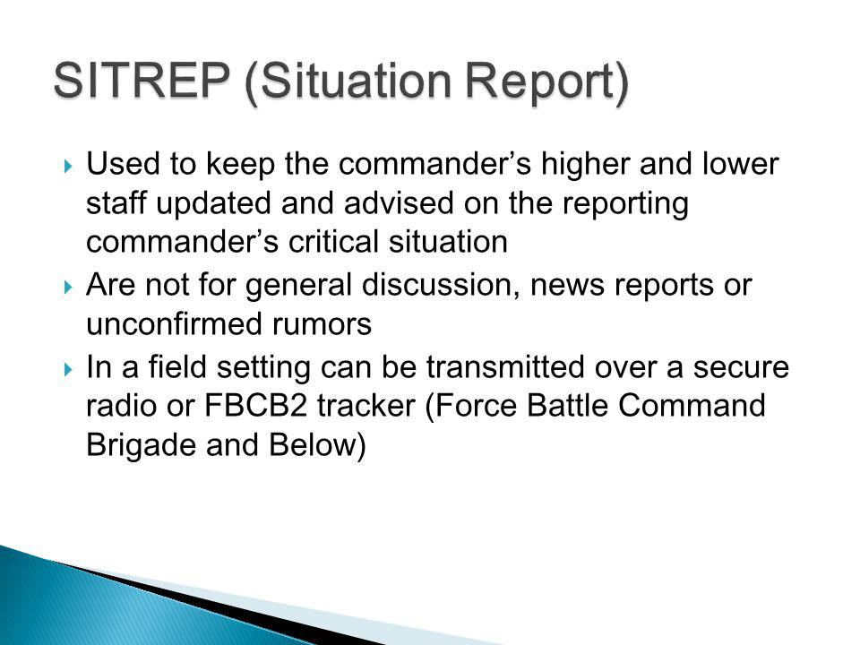 Situation Report Highlights TodayS Report Is A Summary Of Only New