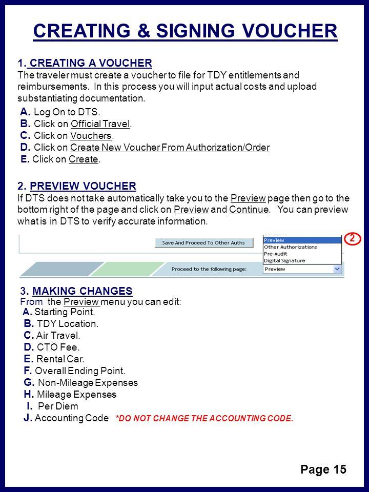 DTS SMART BOOK Last Review DECEMBER ppt download - creating a voucher