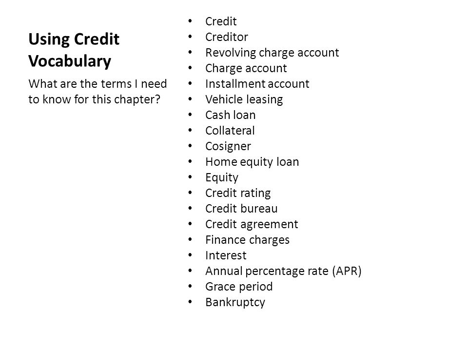 Using Credit Chapter 25, pgs ppt video online download - credit agreement