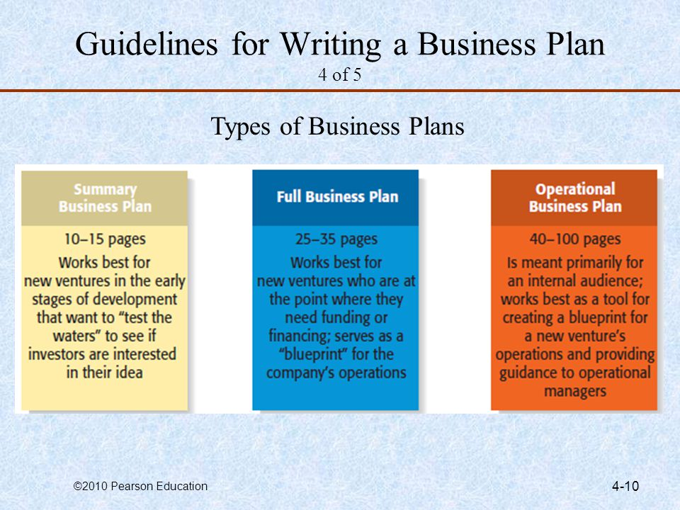 types of business plans - Onwebioinnovate