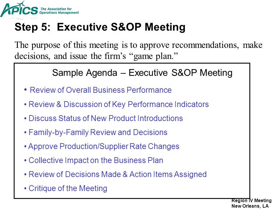 executive agenda template