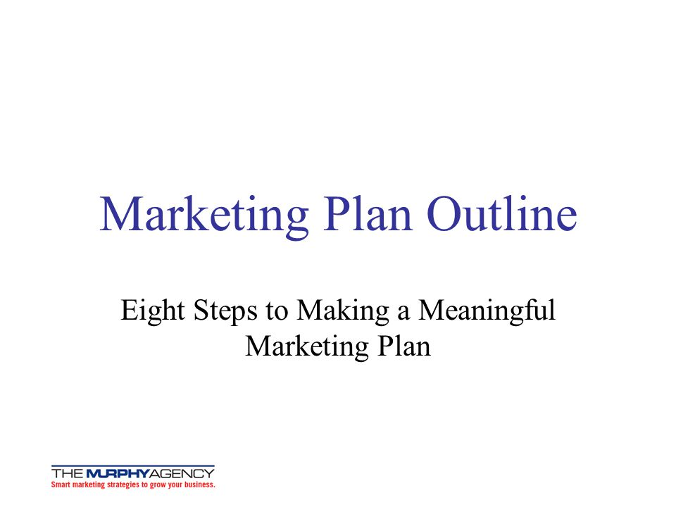 How to Write a Marketing Plan - ppt download