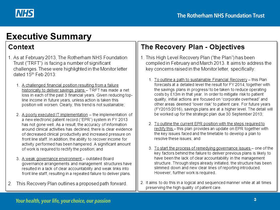 Recovery Plan Version th March ppt download - recovery plans