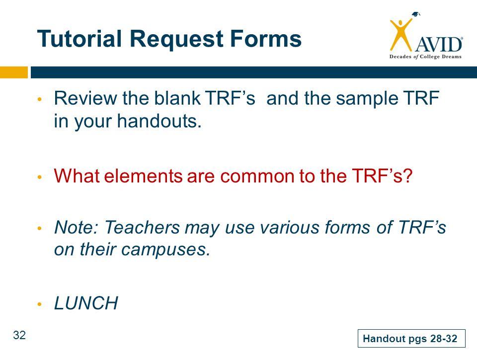 Avid Tutorial Request Form Calendaring The Avid Curriculum Middle