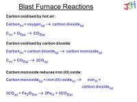 Blast Furnace Reactions - ppt download