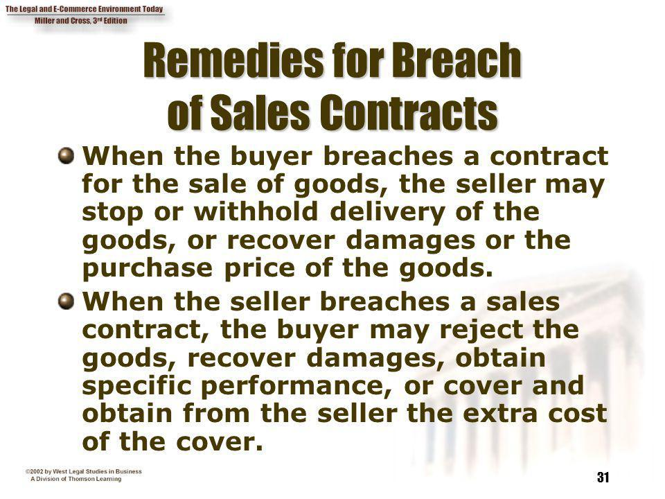Chapter 13 Contract Defenses, Discharge, and Remedies - ppt video - contract breaches remedies