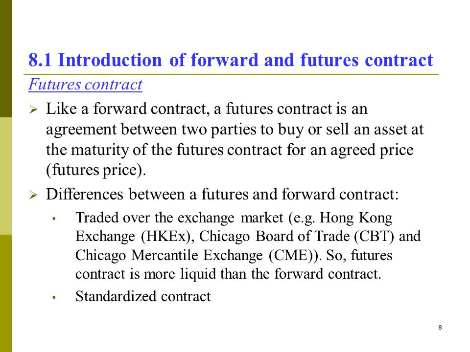 Topic 8 Forwards and futures in risk management - ppt video online - Differences Contract Agreement